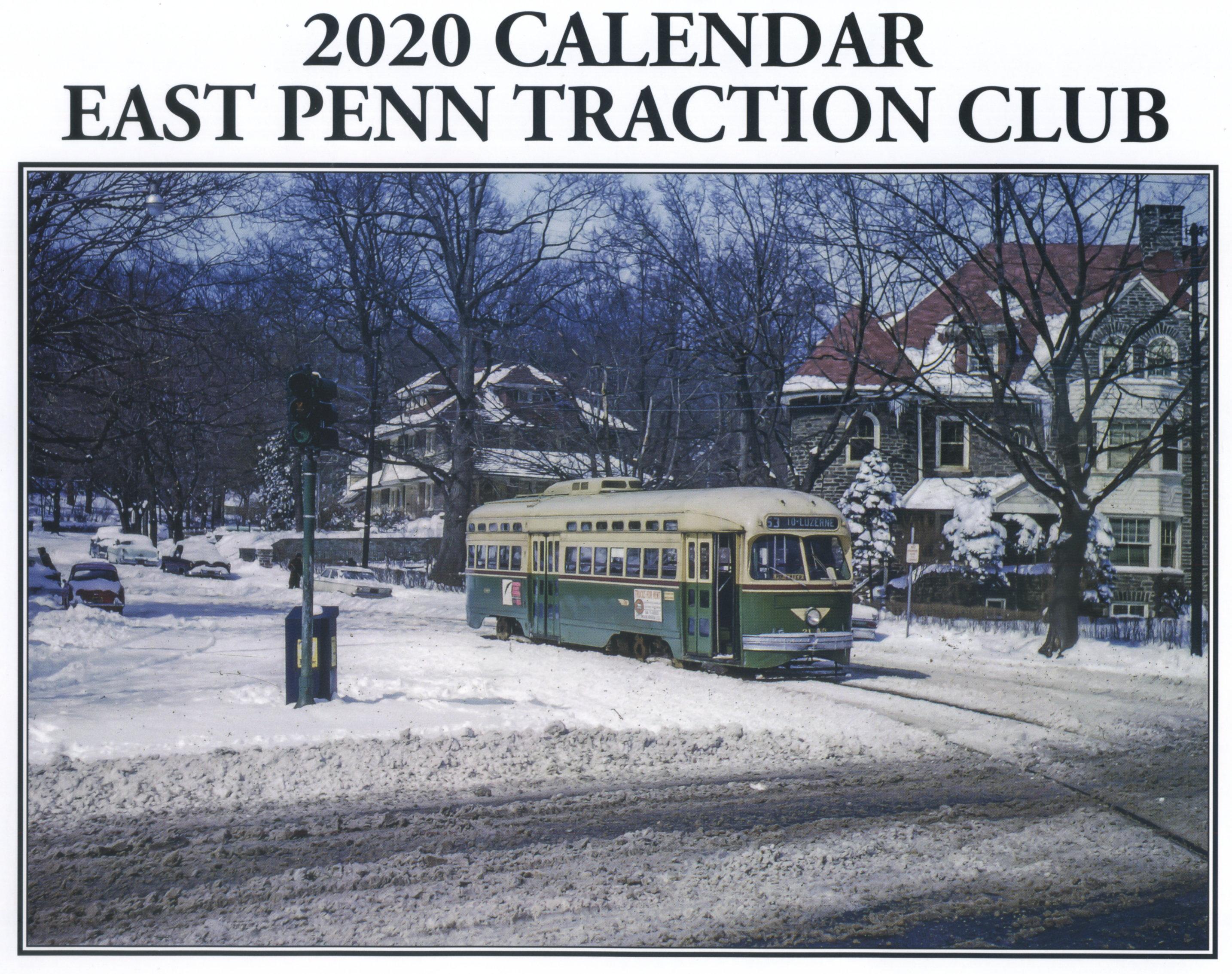 Penn Calendar.East Penn Traction Club Trolley Calendar